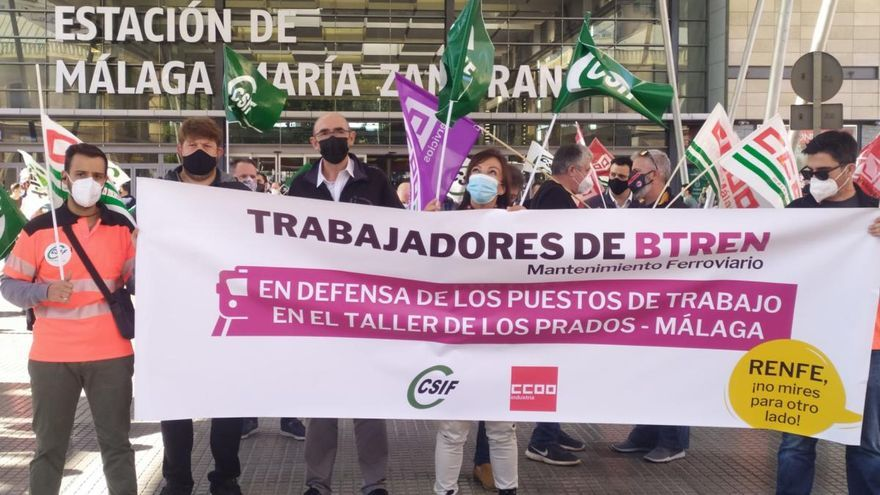 Adelante apoya a los empleados de los talleres de Los Prados