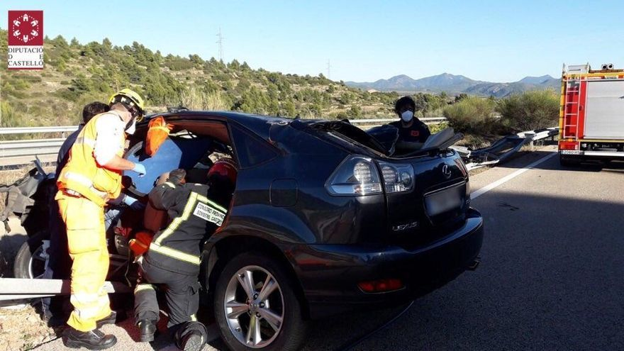Un herido grave en un accidente de tráfico en Jérica