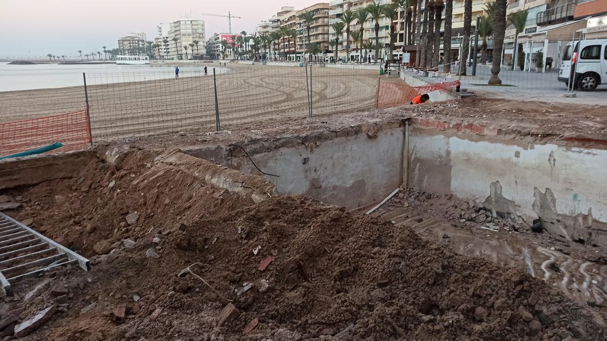 Image of the site of the José María kiosk after its demolition carried out this week