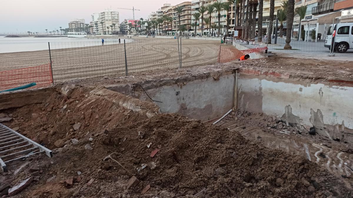 Imagen del solar del quiosco José María tras su derribo realizado esta semana