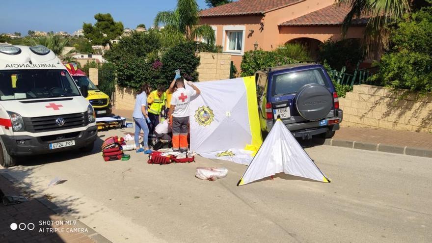 Una conductora sin carnet atropella y hiere de gravedad a un peatón en Xàbia