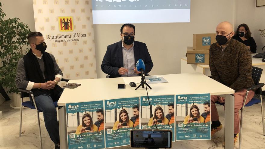 Altea pone en marcha una plataforma pionera de venta on-line en la comarca para los comercios locales