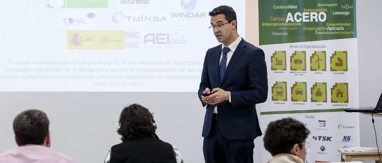 """Ricardo Álvarez, en la presentación de resultados del proyecto """"Mecasol""""."""