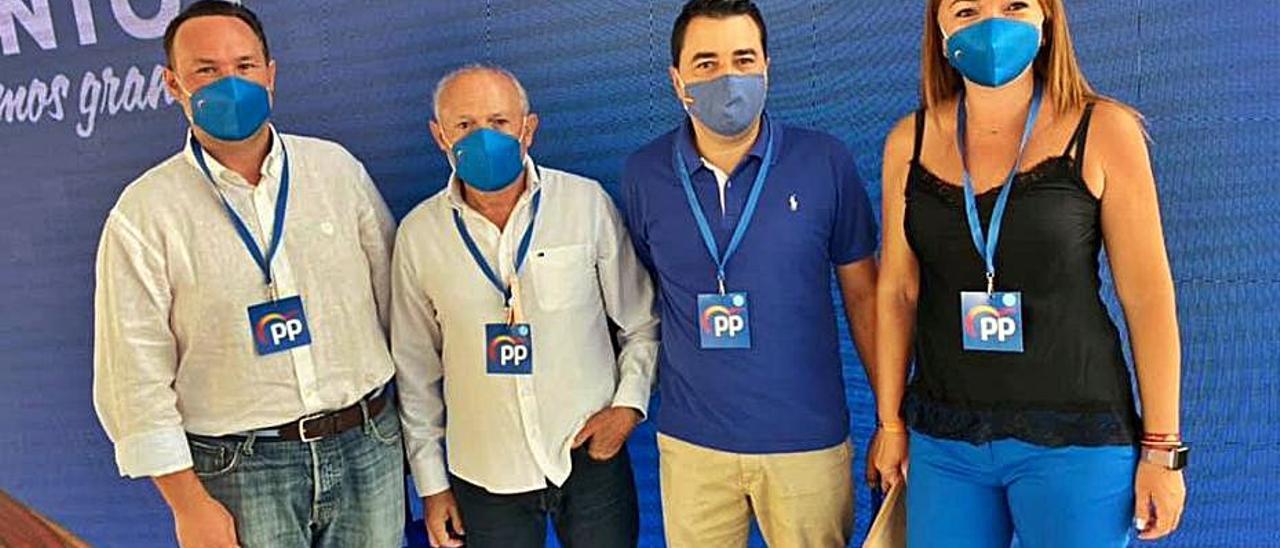 Concejales del PP en el gobierno de Rocafort.   PP