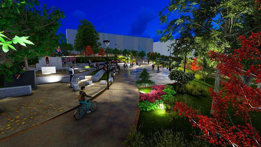 Rocódromos, carril bici y un estanque: la Praza da Miñoca apuesta por la salud