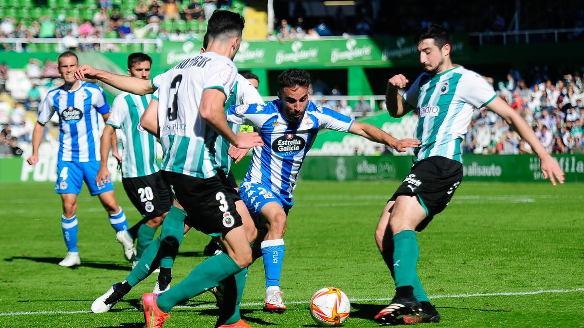 El Racing de Santander y el Deportivo empatan 0-0