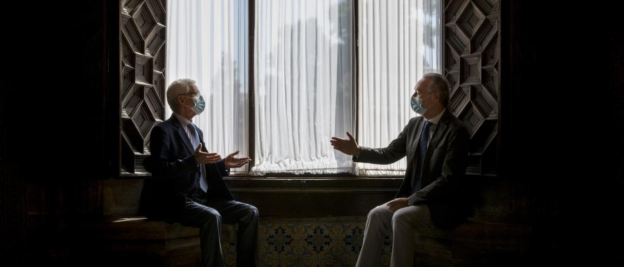 Lerma y Fabra, durante su conversación en el Palau.