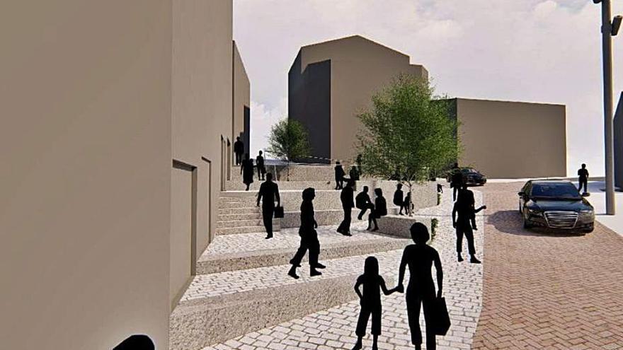 El Concello adjudica la humanización de la plaza de Méndez Núñez en Portonovo