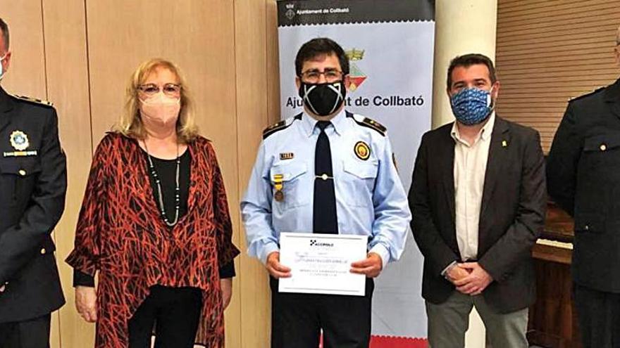 Reconeixement al cap de la Guàrdia Municipal de Collbató, Antonio Franco