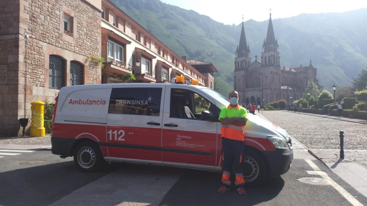 El servicio de ambulancia, en Covadonga.