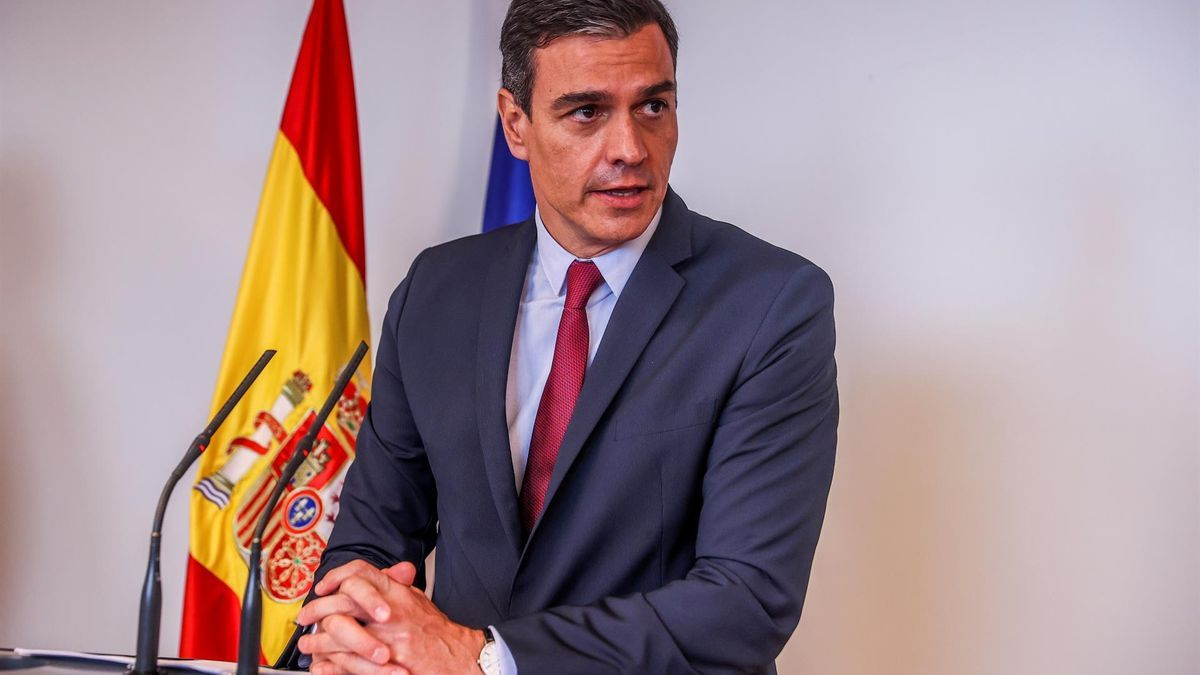 Pedro Sánchez durante la inauguración de la oficina económica y comercial de la embajada de españa en EEUU.