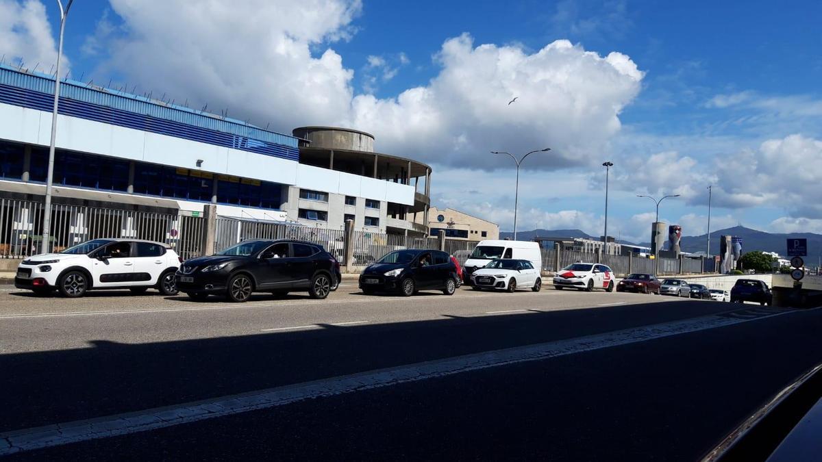 Atoamento na avenida de Beiramar de Vigo