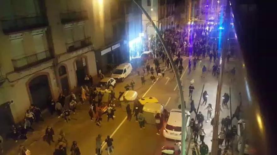 Demanen set anys de presó per a quatre joves que van participar en una protesta davant la Guàrdia Civil de Manresa