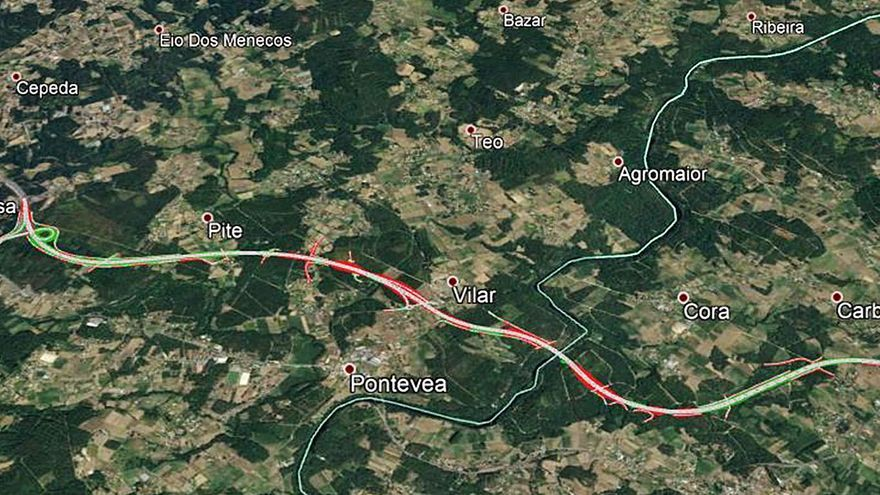 Una plataforma de 17 colectivos pide retirar el plan para la ampliación de la autovía AG-59