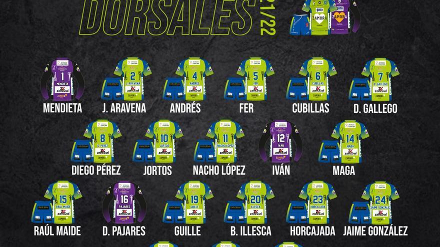 El Balonmano Zamora enamora presenta sus dorsales para la temporada 21-22