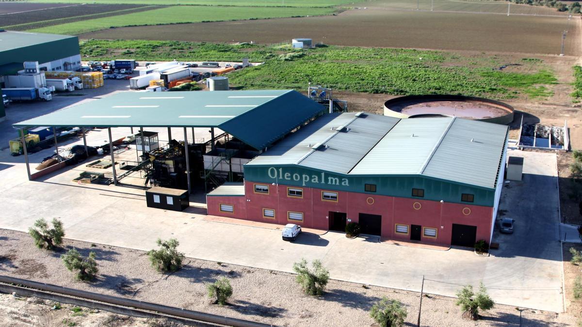 Vista aérea de las instalaciones de Oleopalma.