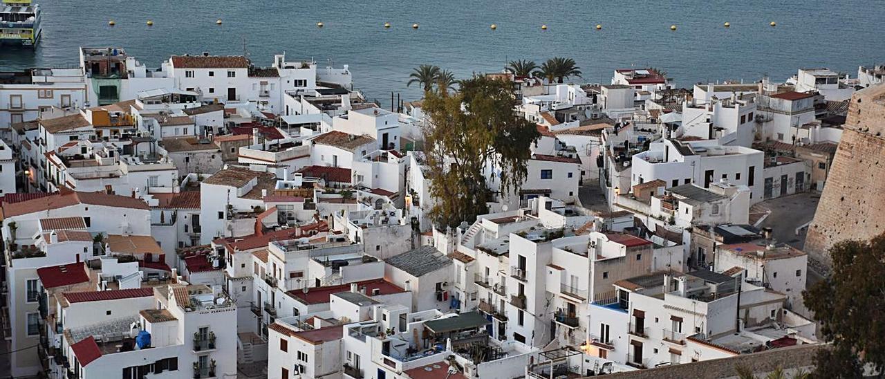 Vista general del barrio de sa Penya.