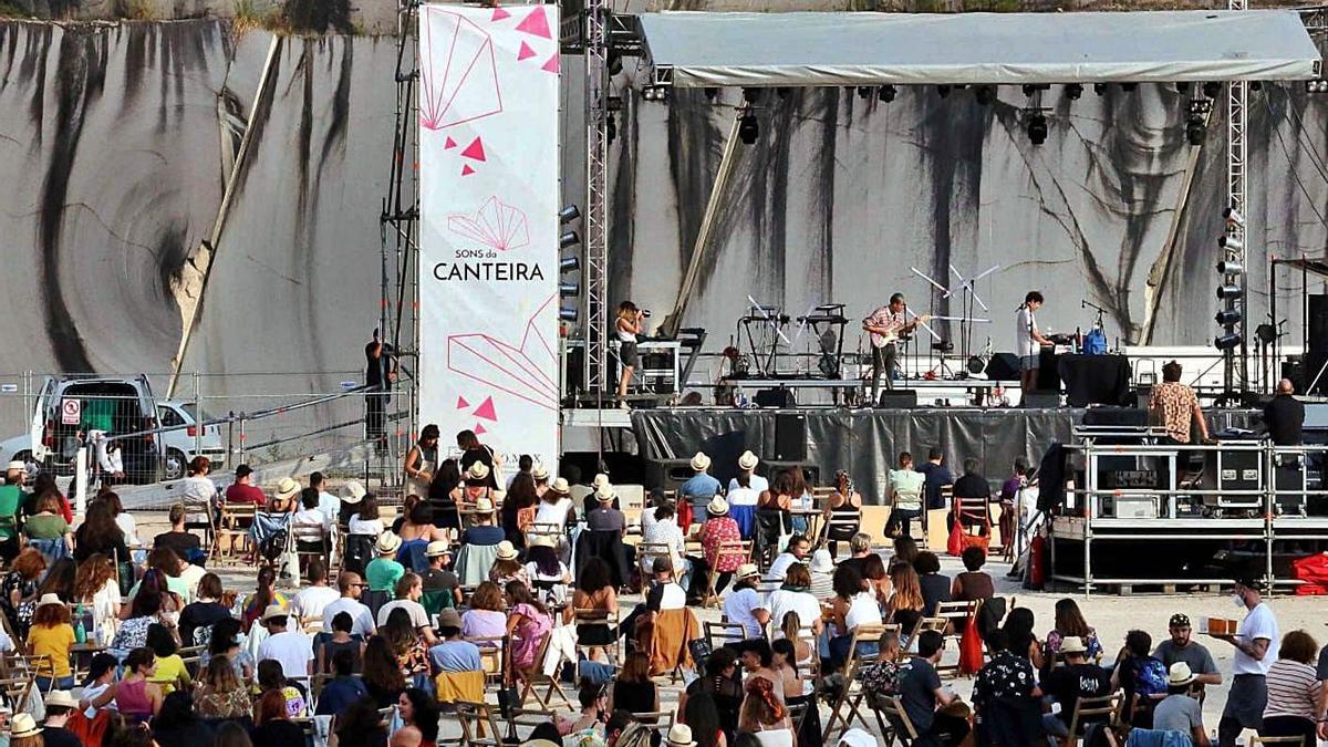 Festival Sons da Canteira, celebrado en agosto na canteira en restauración de Vilafría.   | // D.P.