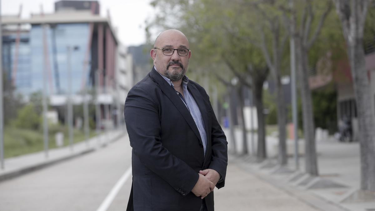 El director general de Innovación, Eduardo Zúñiga, en el Parc Bit.