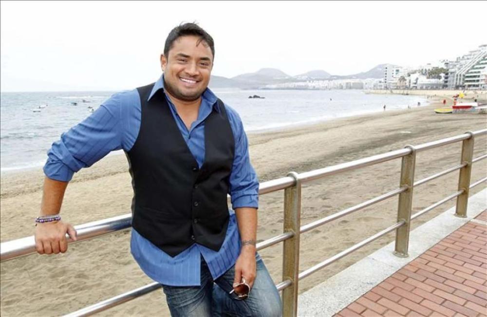 Manny Manuel en Las Canteras, en 2013.