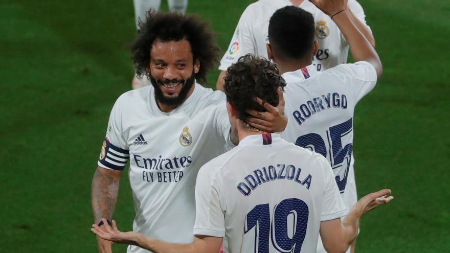 Una voluntaria sustituye a Marcelo para que pueda viajar a Londres con el Real Madrid