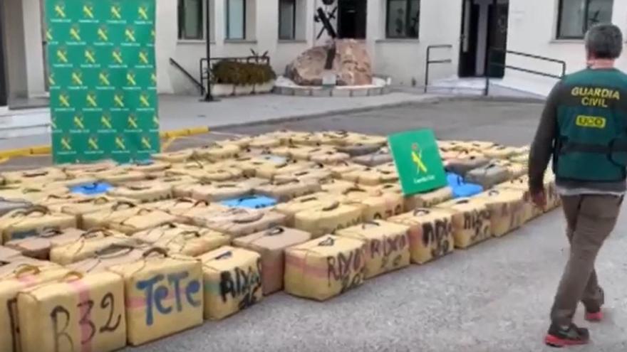 Golpe a los 'narcos' con ocho detenidos y cinco toneladas de hachís incautadas