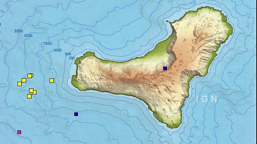 Ocho terremotos en la isla de El Hierro en doce minutos