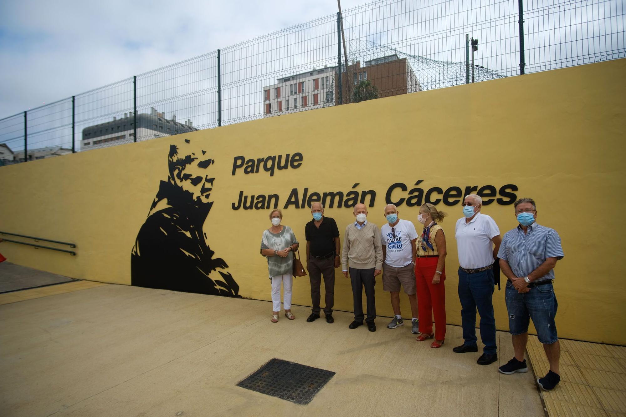 Homenaje a Juan Alemán Cáceres, histórico líder vecinal de La Paterna
