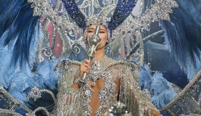 Sara Cruz, reina del Carnaval de Santa Cruz