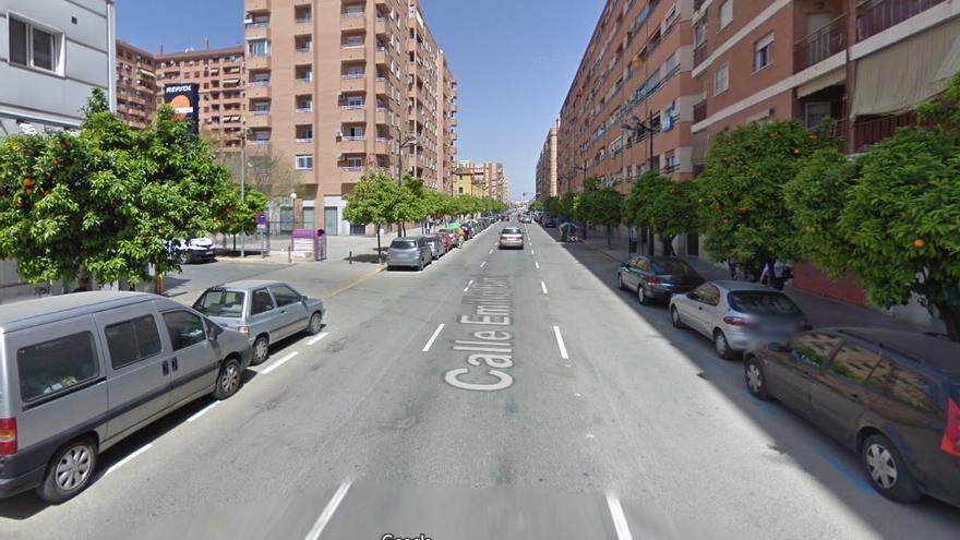 Herido en un accidente entre un coche y una moto en València