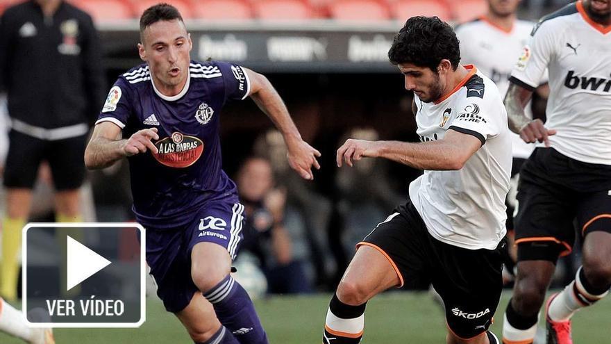 Kang In Lee salva al Valencia ante un sólido Valladolid