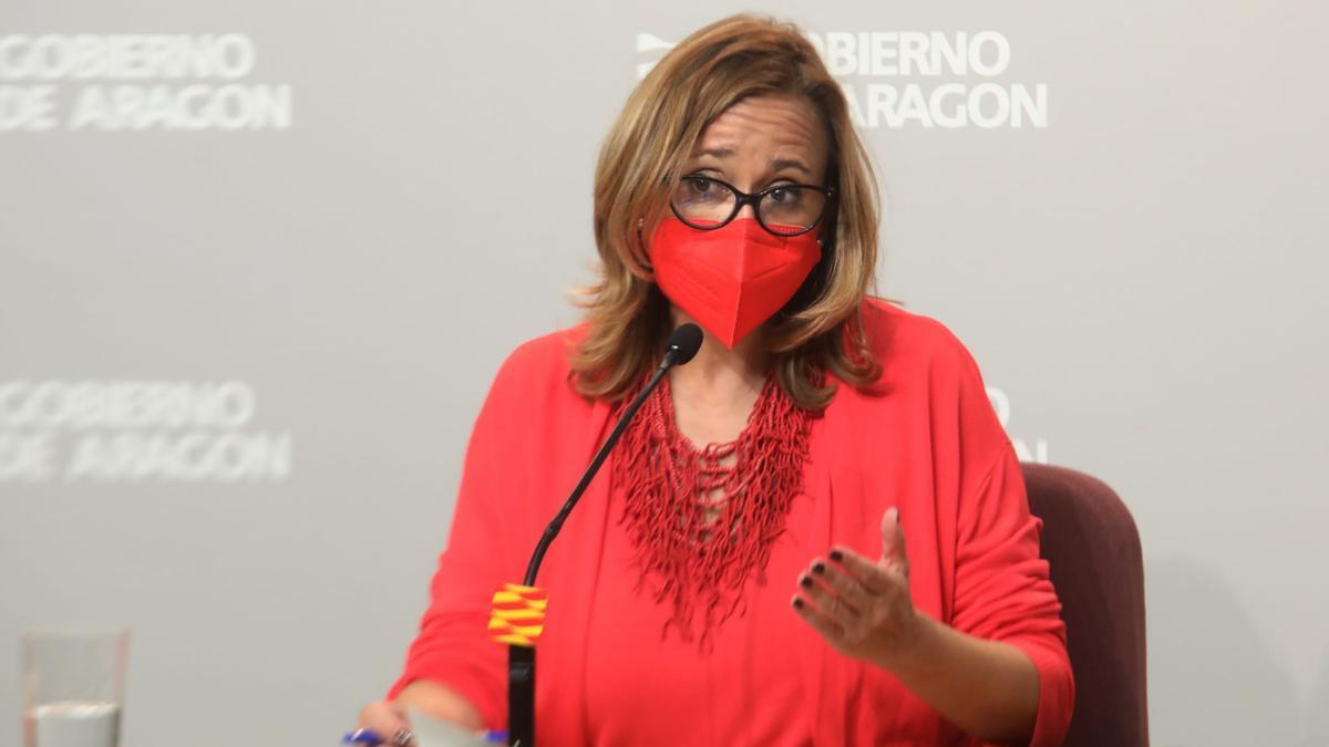 La consejera Mayte Pérez, en la comparecencia tras el Consejo de Gobierno.