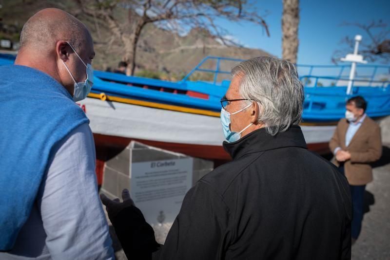 Entrega del barco 'El Corbeta' al pueblo de San Andrés