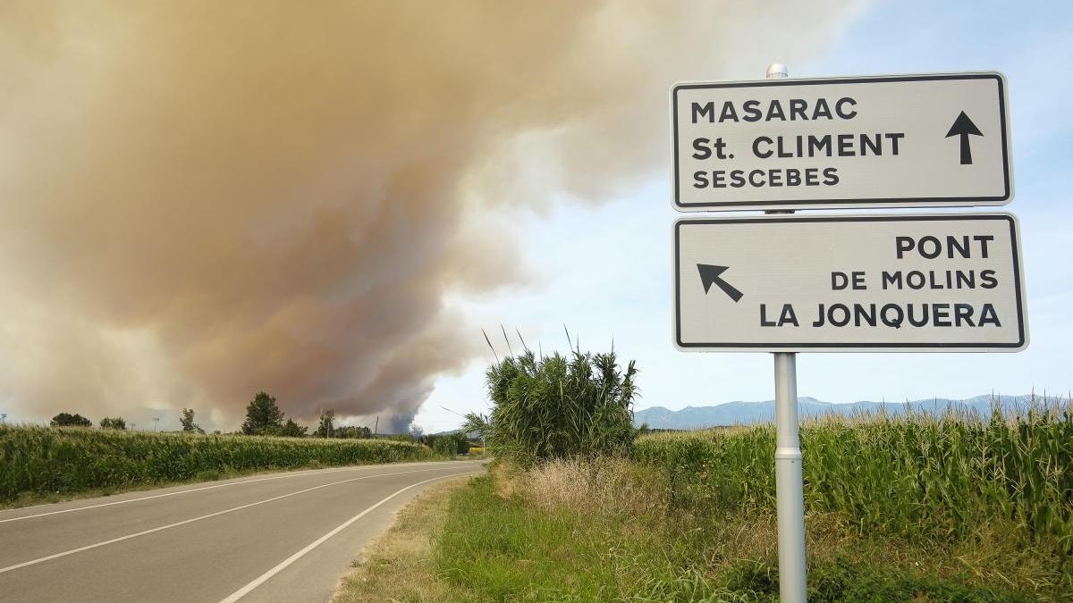 El foc va estar actiu diversos dies.