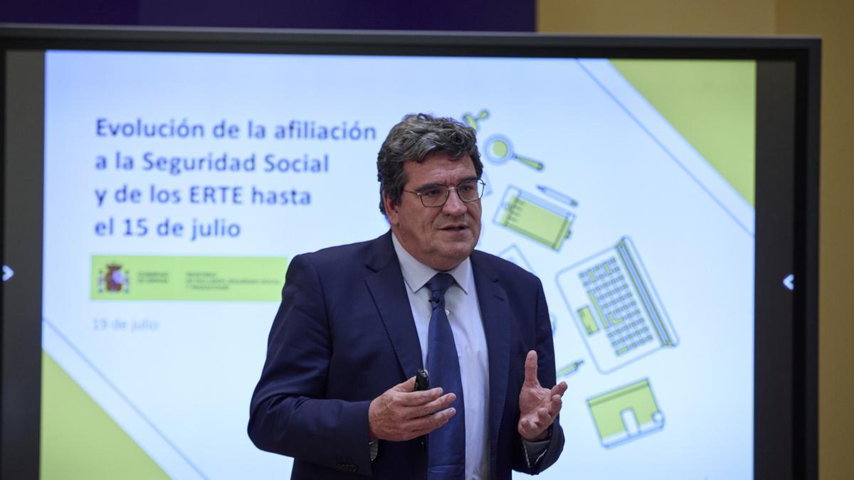 Escrivá avanza los datos de la afiliación a la Seguridad Social de julio