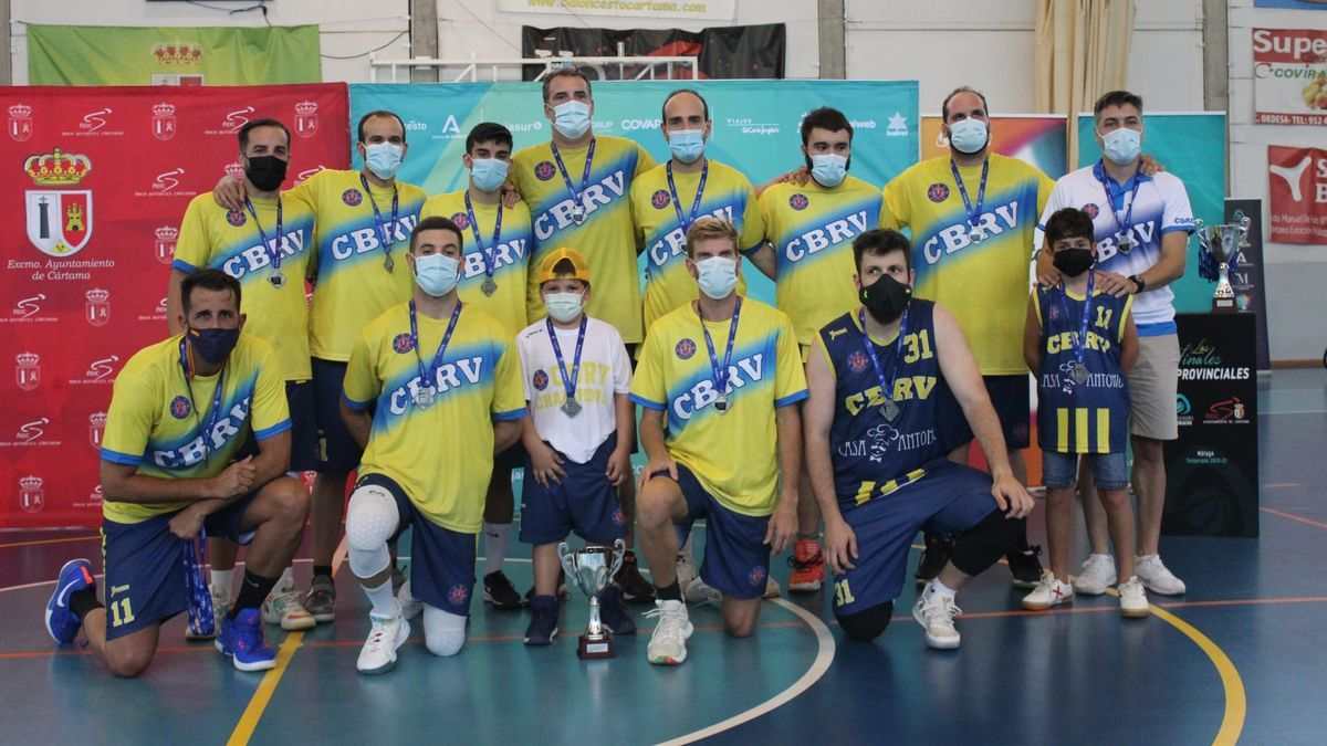 Club Baloncesto Rincón de la Victoria, subcampeón de la categoría senior provincial masculino