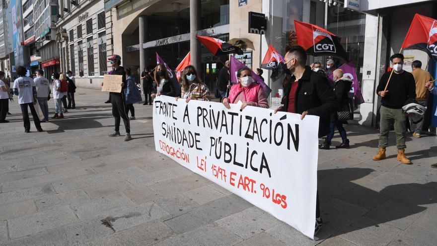 Concentración en el Obelisco en defensa de la sanidad pública