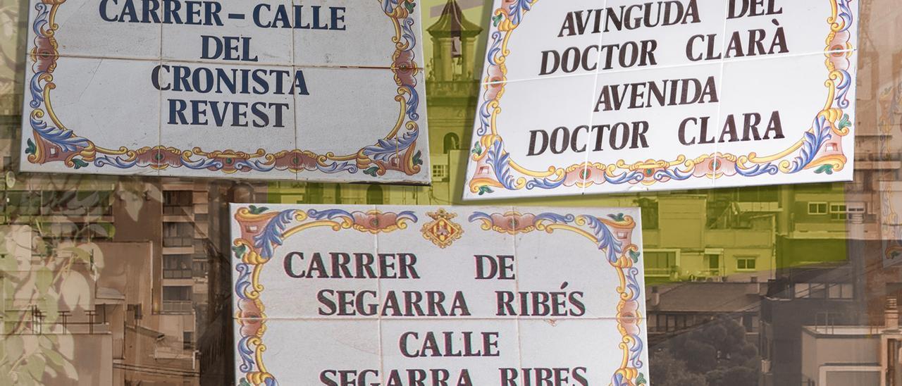 Calles dedicadas a Segarra Ribés, Luis Revest y el doctor Clará en Castelló.