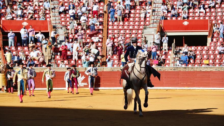 Diego Ventura corta la primera oreja de la corrida que se celebra en Los Califas