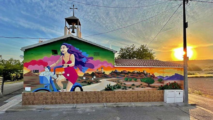 Las pedanías altas se embellecen con murales temáticos