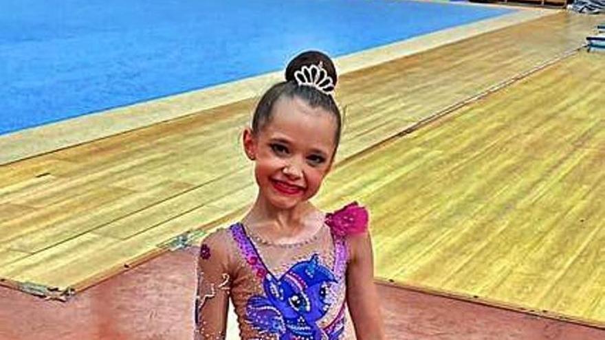 Emma Fernández, gimnasta del Ares, vence en los Juegos Escolares del Principado
