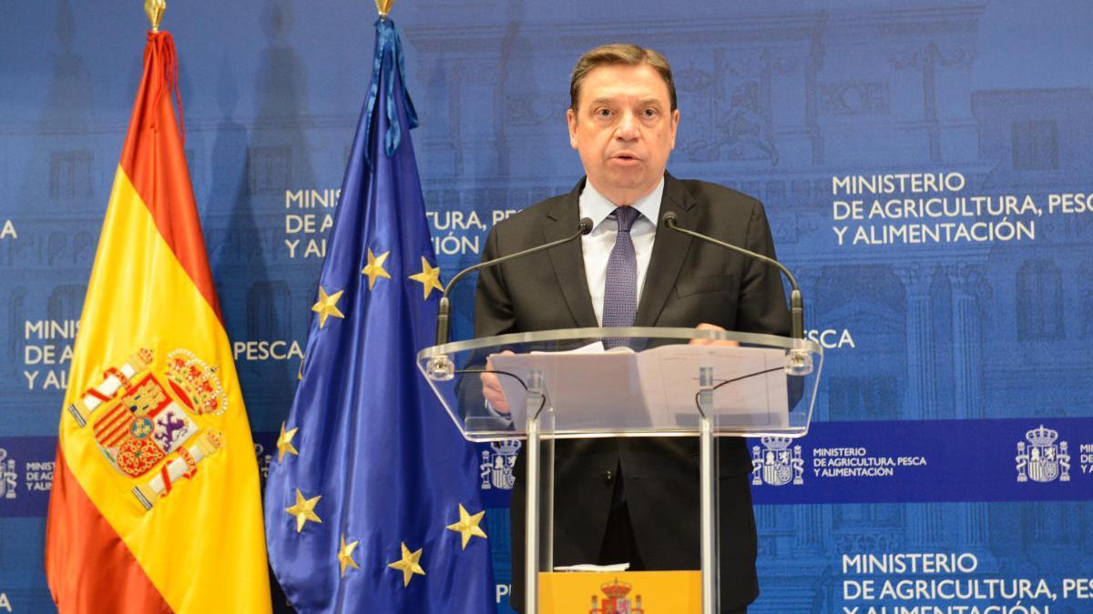 Intervención del ministro de Agricultura, Luis Planas.