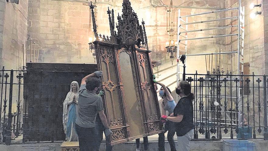 La Seu buida la capella on s'exposarà el frontal florentí una vegada restaurat