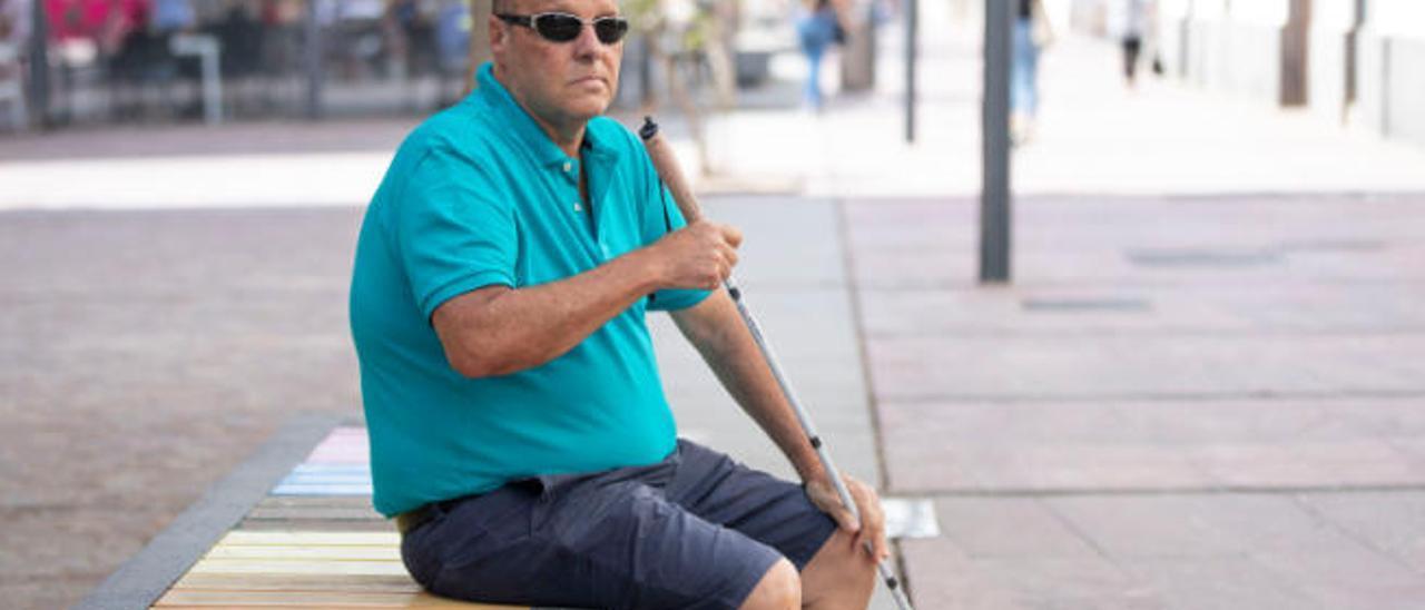 José Gómez, presidente del colectivo de Discapacitados Visuales y Auditivos.