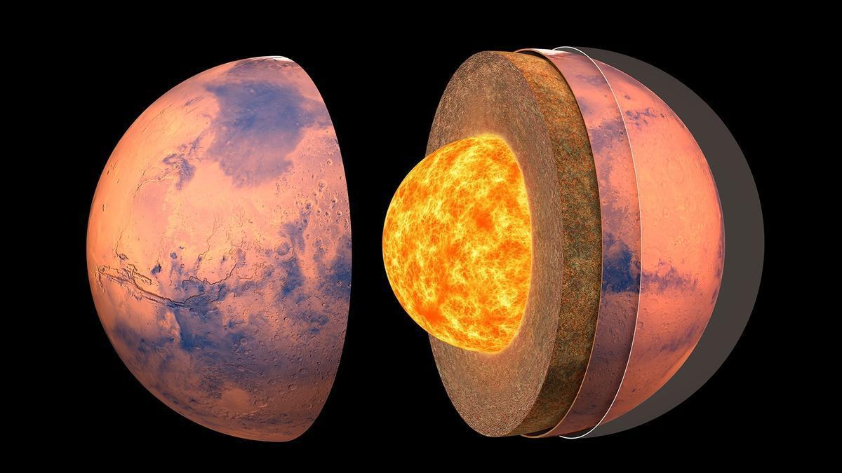 La estructura interna de Marte revelada gracias a sus movimientos sísmicos.