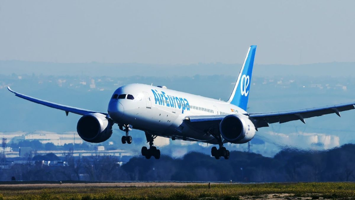 Un avión de la compañía Air Europa