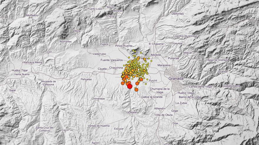 Siguen los movimientos sísmicos en Granada