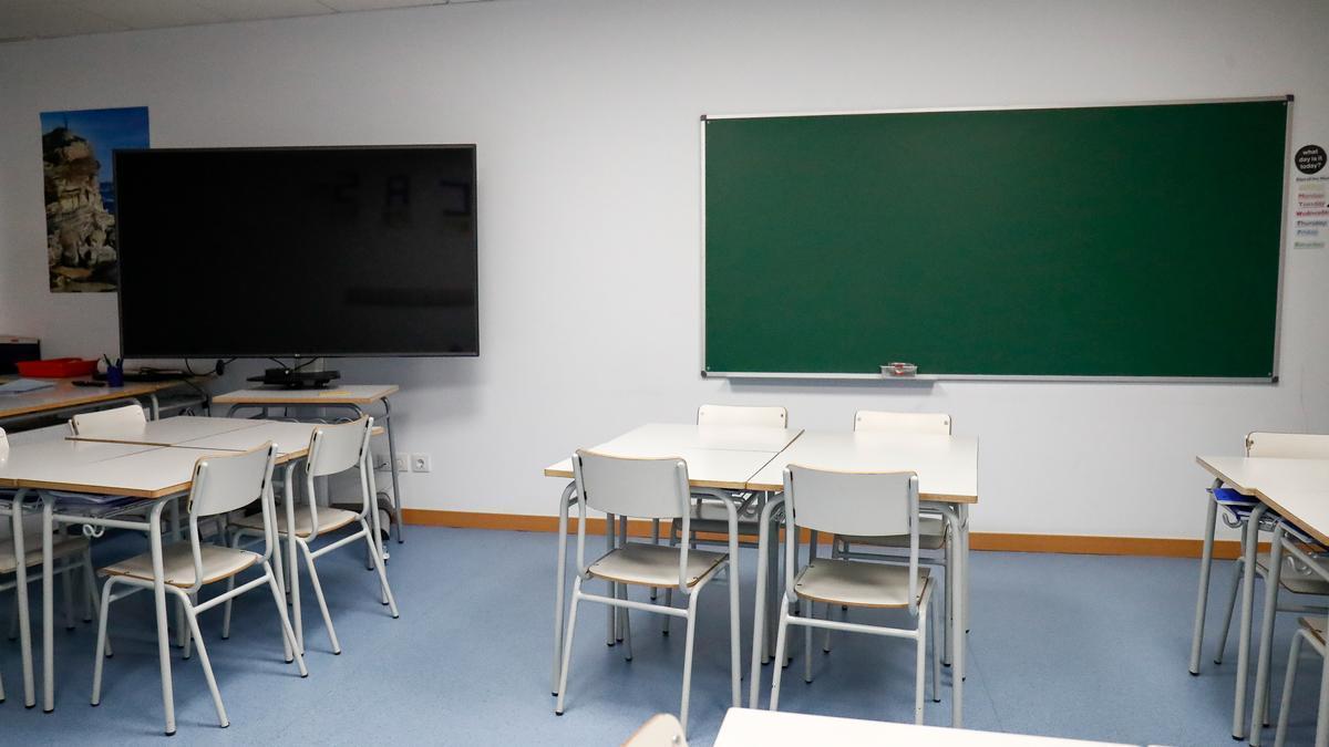 Aulas vacías en colegios