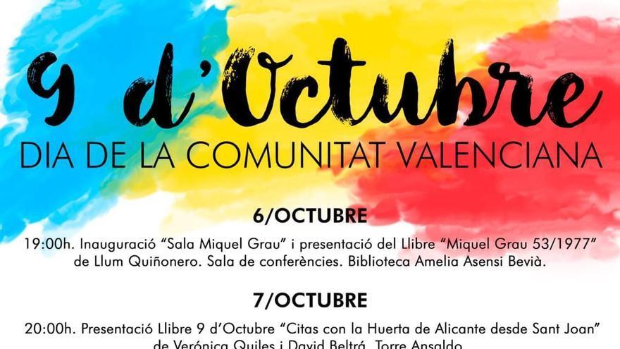 El PSPV de Sant Joan retira el «País Valencià» de los carteles del 9 d'Octubre en medio de la tensión con Cs