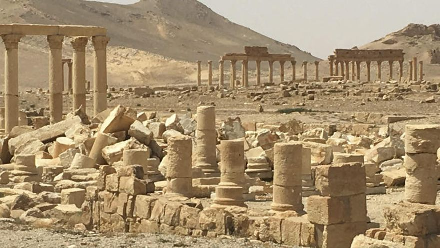 El Estado Islámico mina Palmira antes de su retirada